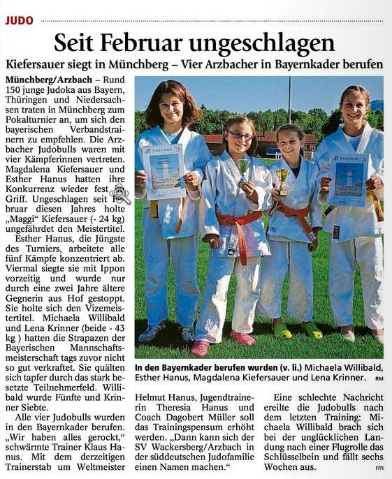 Bayerische Vere... Judo Bayernkader
